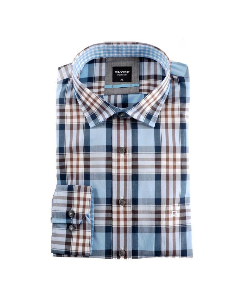 Chemise à carreaux : grande taille du 44 (XL) au 54 (6XL)
