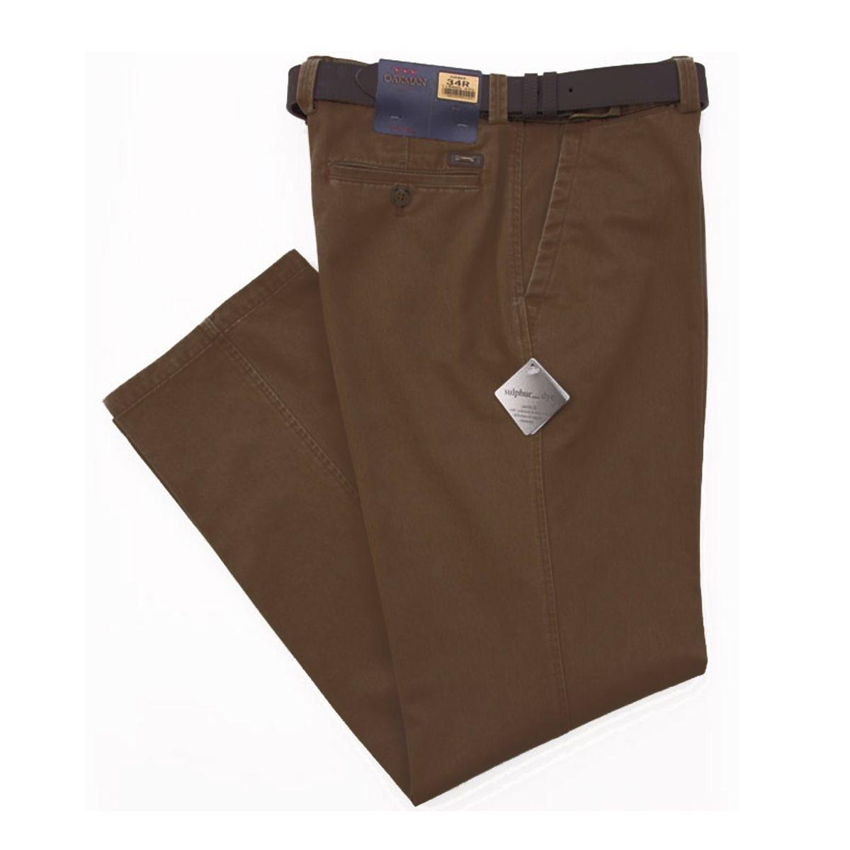 pantalon toile chocolat pour homme fort grande taille du 54 au 82 oakman. Black Bedroom Furniture Sets. Home Design Ideas