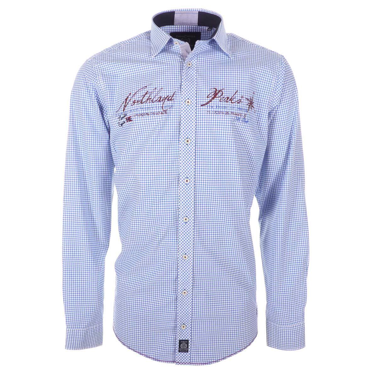 chemise bleue pour homme grand manches extra longues. Black Bedroom Furniture Sets. Home Design Ideas