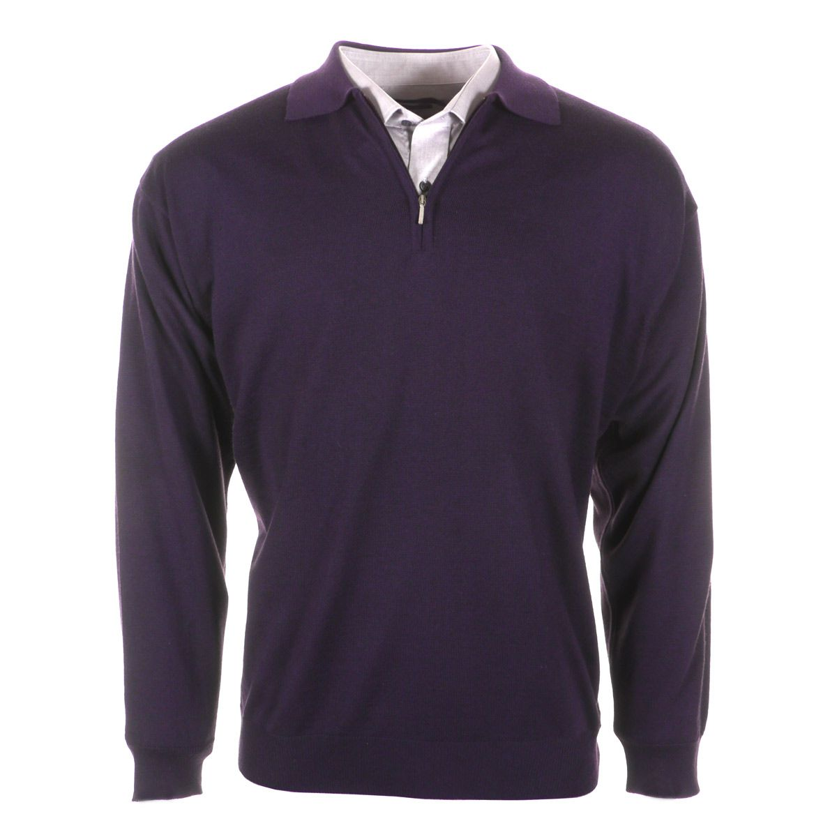 Pull col zipp violet grande taille du 3xl au 9xl mode for Pull monte carlo