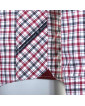 Chemise rouge: manches extra-longues 72cm
