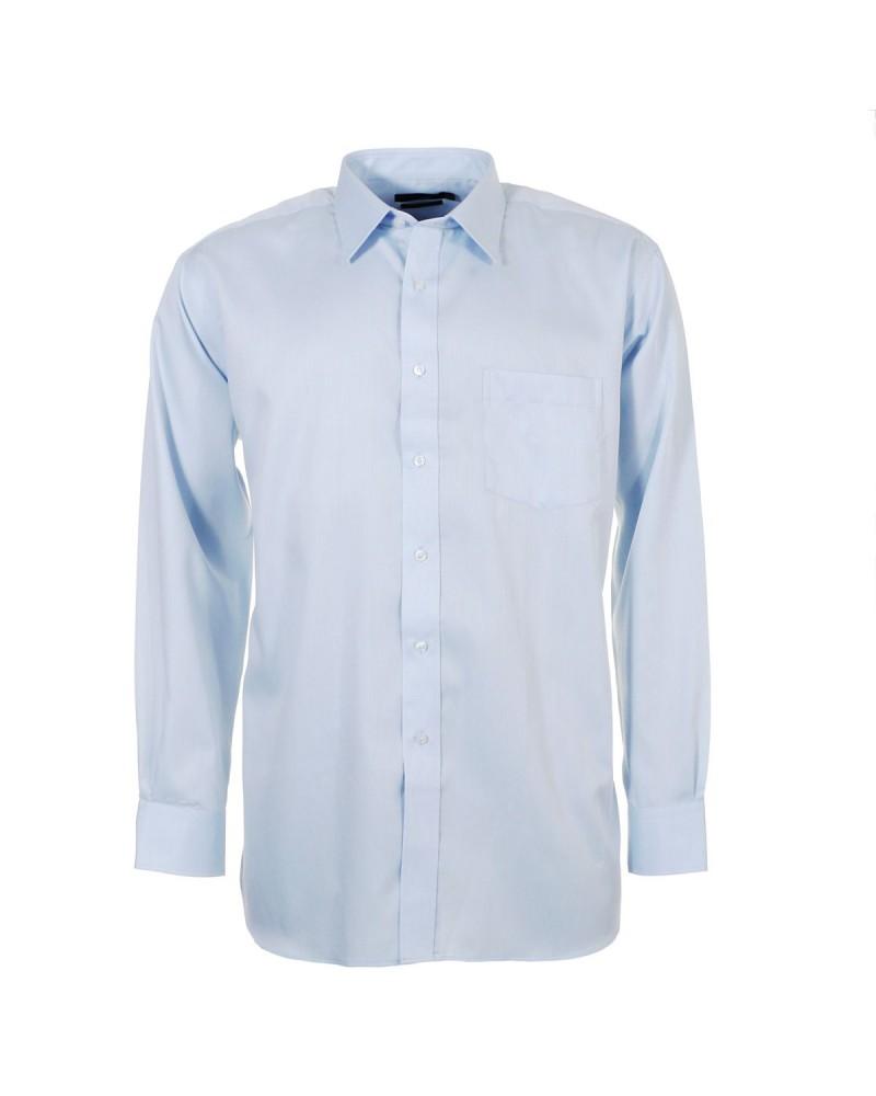 Chemise bleue pour Homme Fort du 44 (XL) au 54 (6XL)