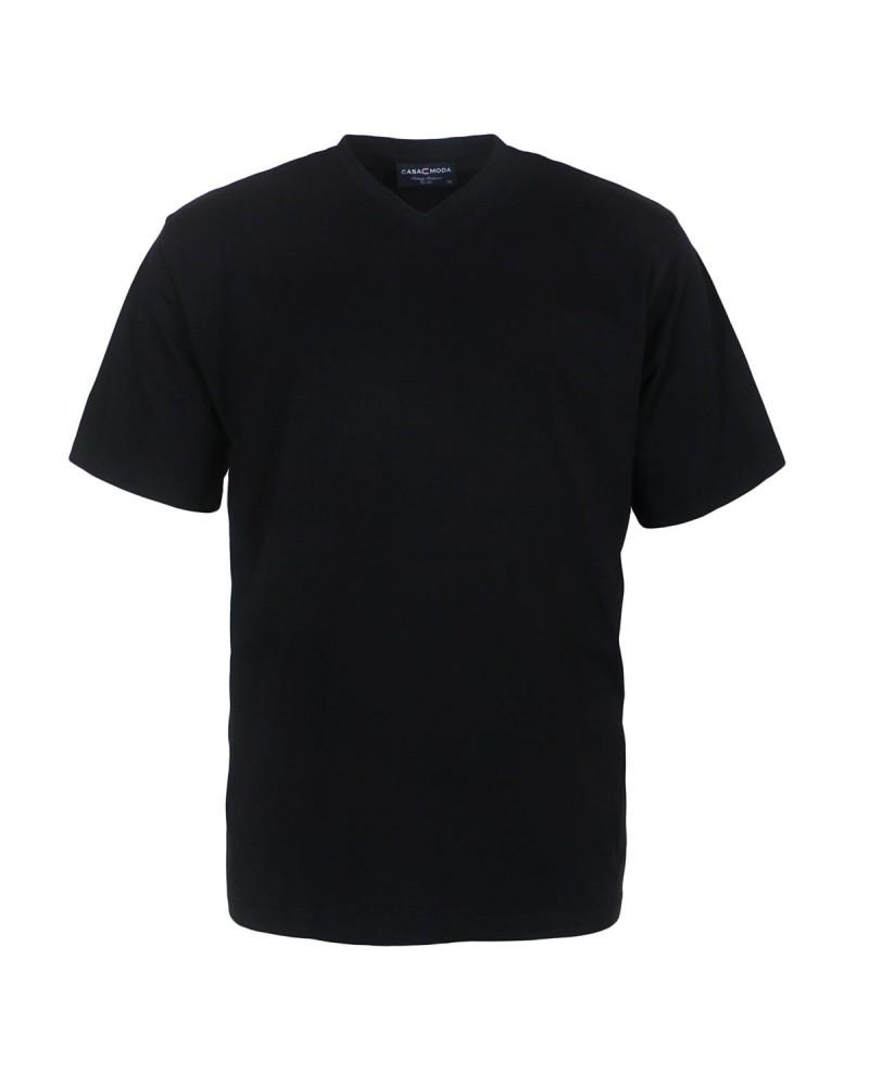 Lot de 2 T-Shirts noirs col V pour Homme Fort du 2XL au 6XL