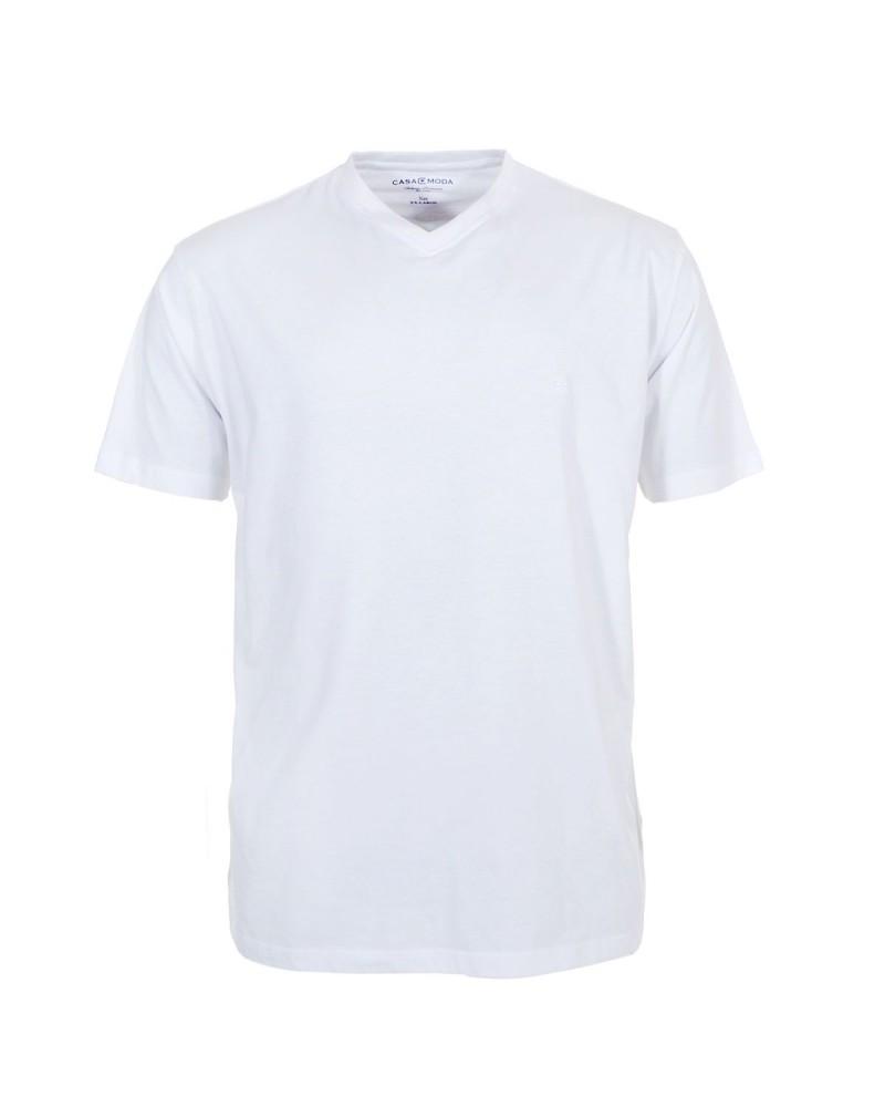 Lot de 2 T-Shirts blancs col V pour Homme Fort du 2XL au 6XL