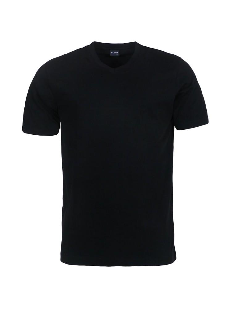 T-shirt noir col V : du S au 4XL