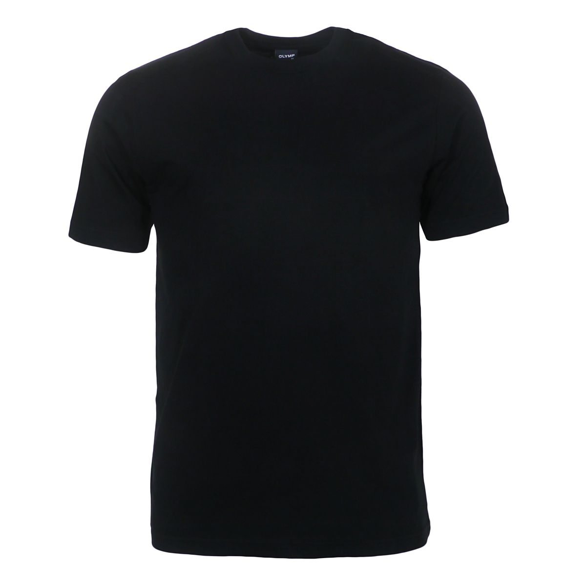 t shirt noir col rond grande taille jusqu 39 au 4xl olymp olymp. Black Bedroom Furniture Sets. Home Design Ideas