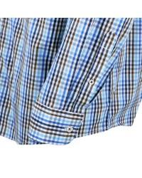 Chemise marron: grande taille du XL au 6XL
