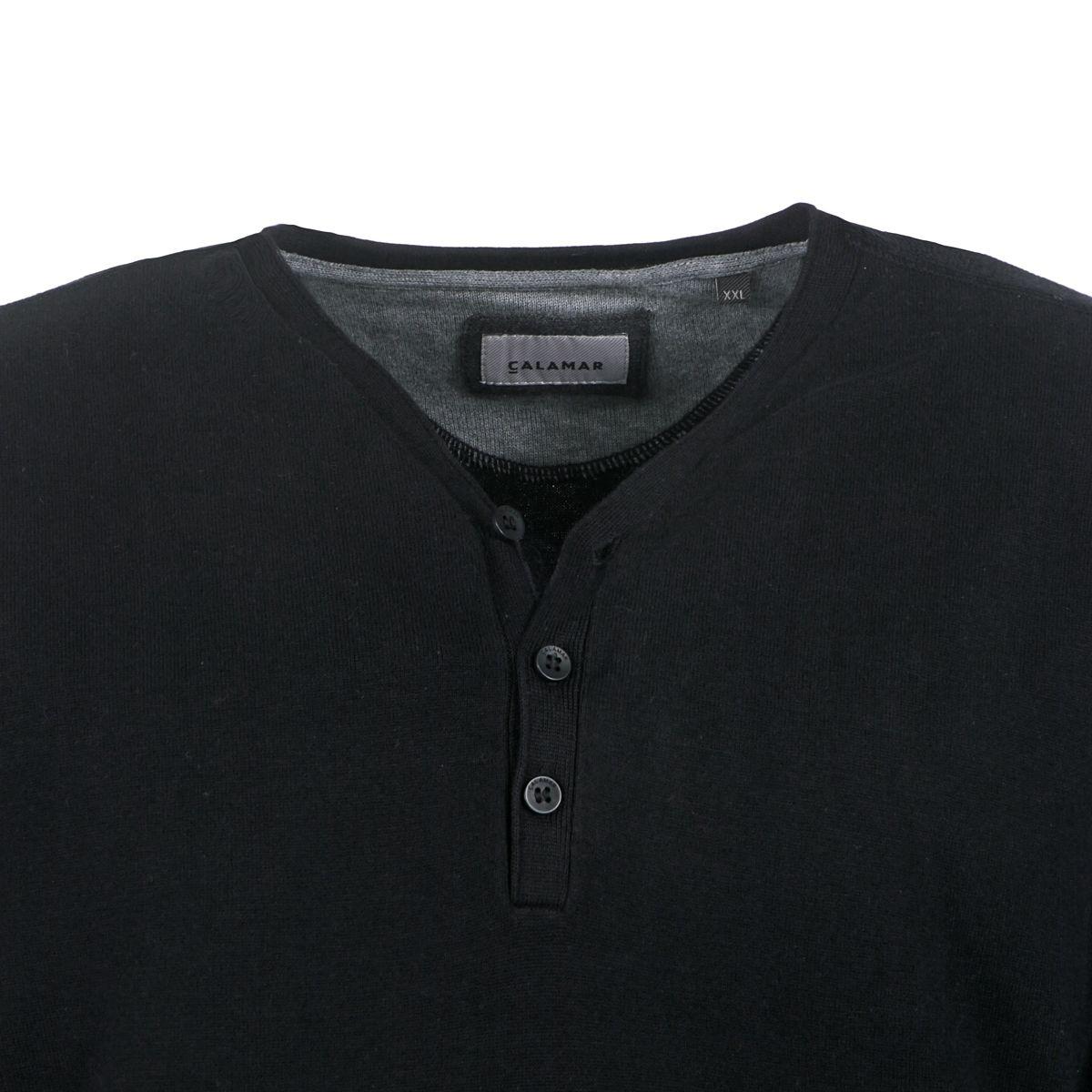 t shirt manches longues noir grande taille du 2xl au 3xl size factory calamar. Black Bedroom Furniture Sets. Home Design Ideas