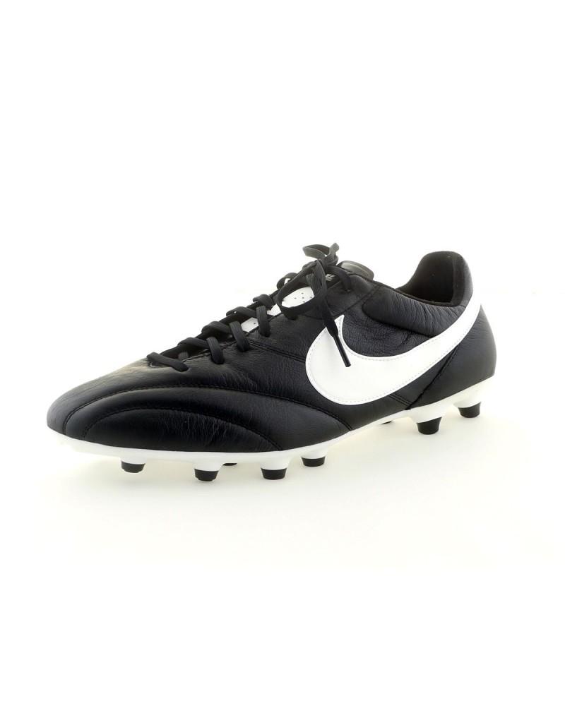 Chaussures de foot en cuir Nike Premier grande taille noires