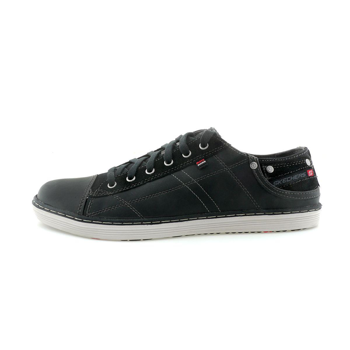 chaussures sorino noires grande taille du 47 5 au 48 5 size factory skechers. Black Bedroom Furniture Sets. Home Design Ideas
