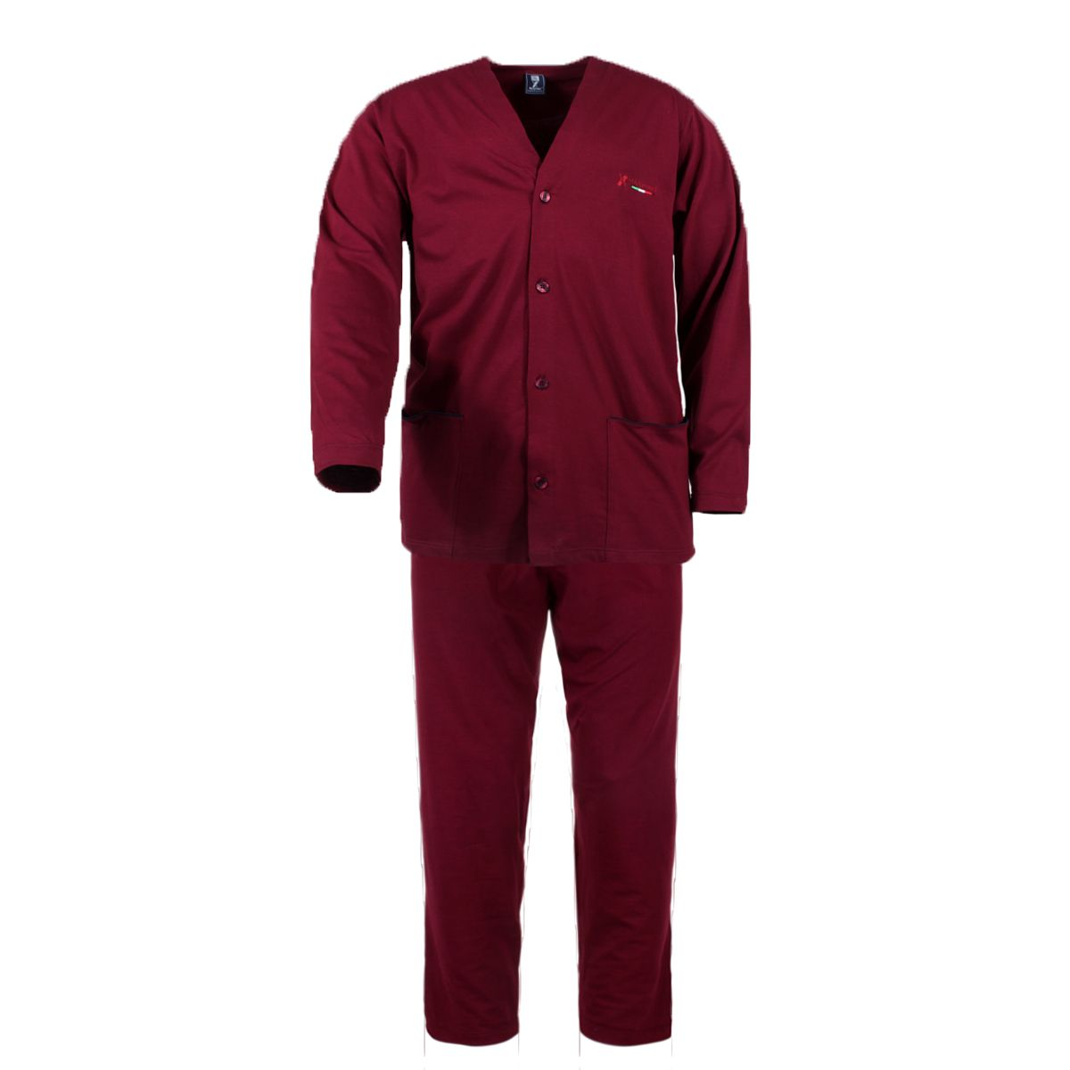 pyjama rouge boutons grande taille du 3xl au 10xl. Black Bedroom Furniture Sets. Home Design Ideas