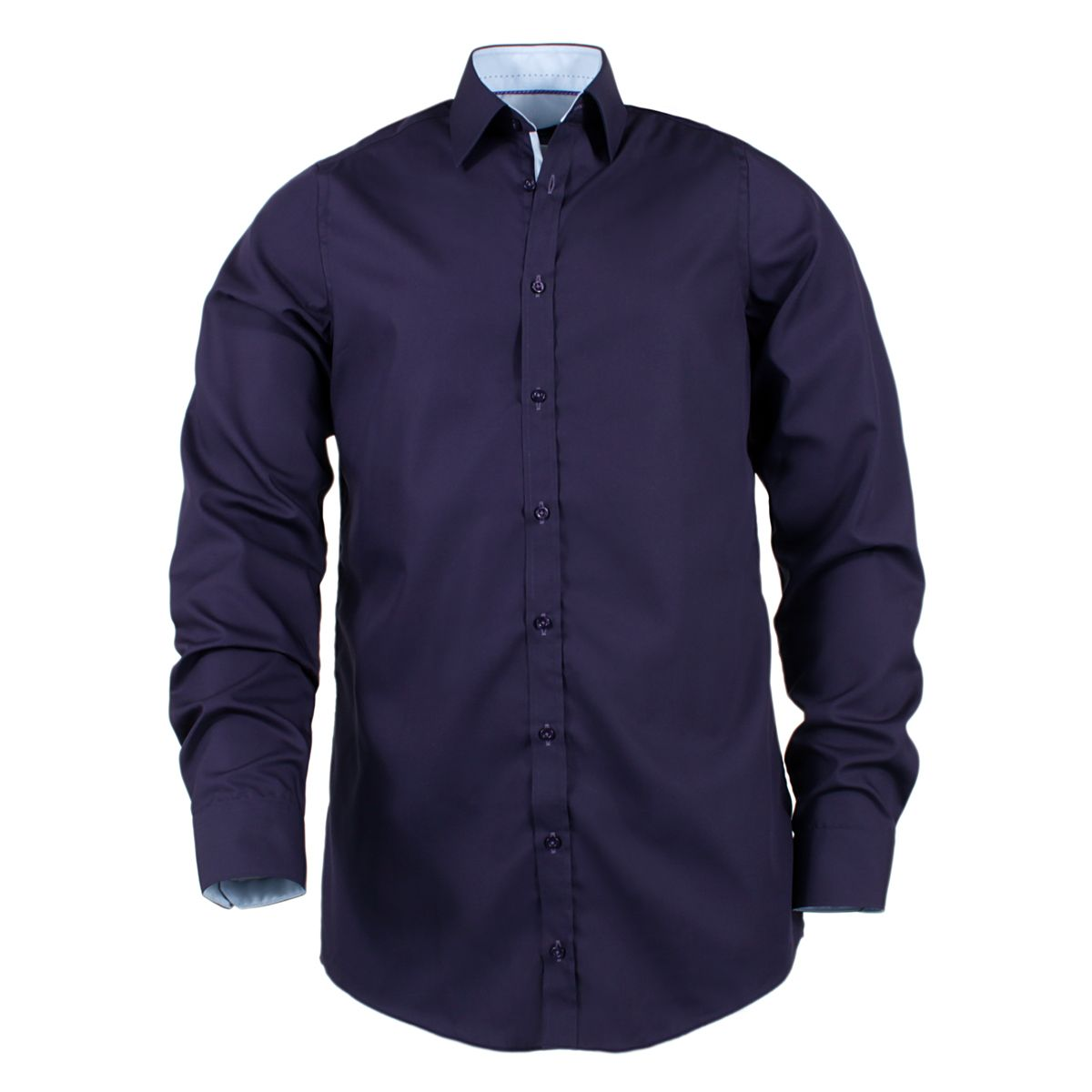 chemise violette cintr e manches extra longues 72cm size factory venti. Black Bedroom Furniture Sets. Home Design Ideas