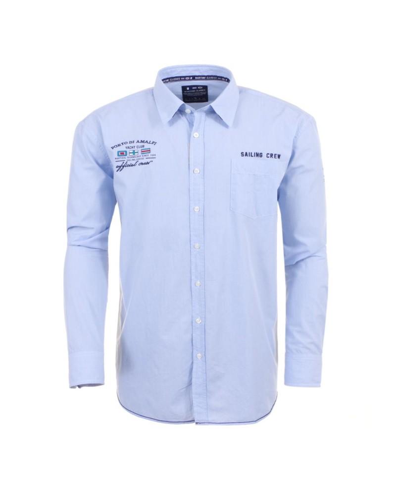 Chemise bleue placide pour Homme Grand: du M au 2XL