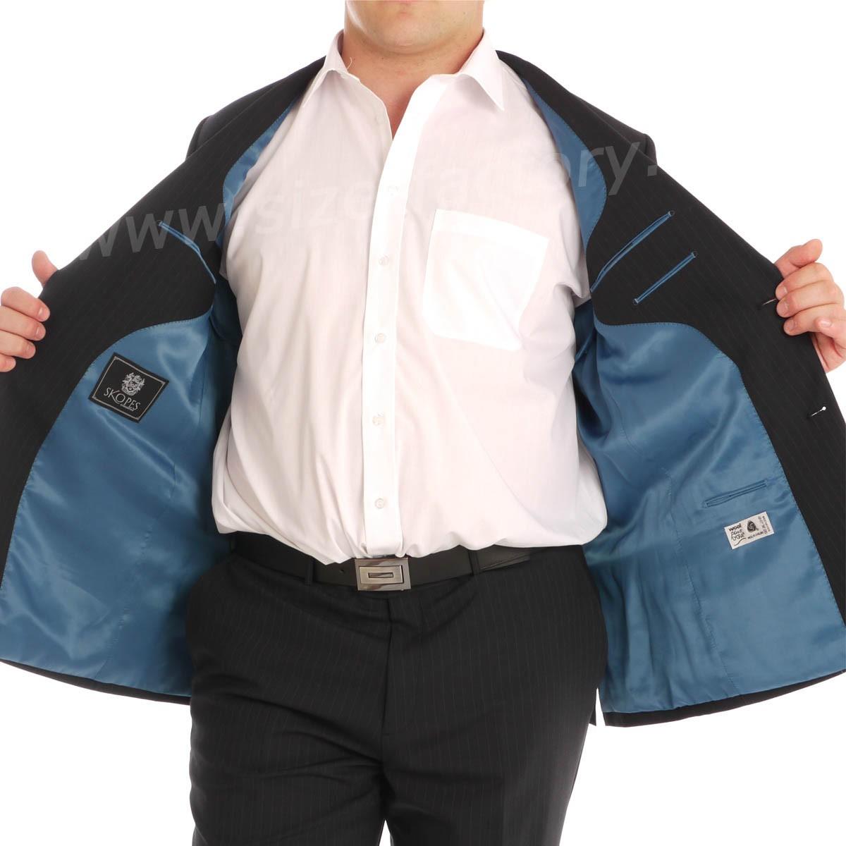 veste de costume grande taille classic ray bleu taille courte jusqu 39 au 78 skopes skopes. Black Bedroom Furniture Sets. Home Design Ideas