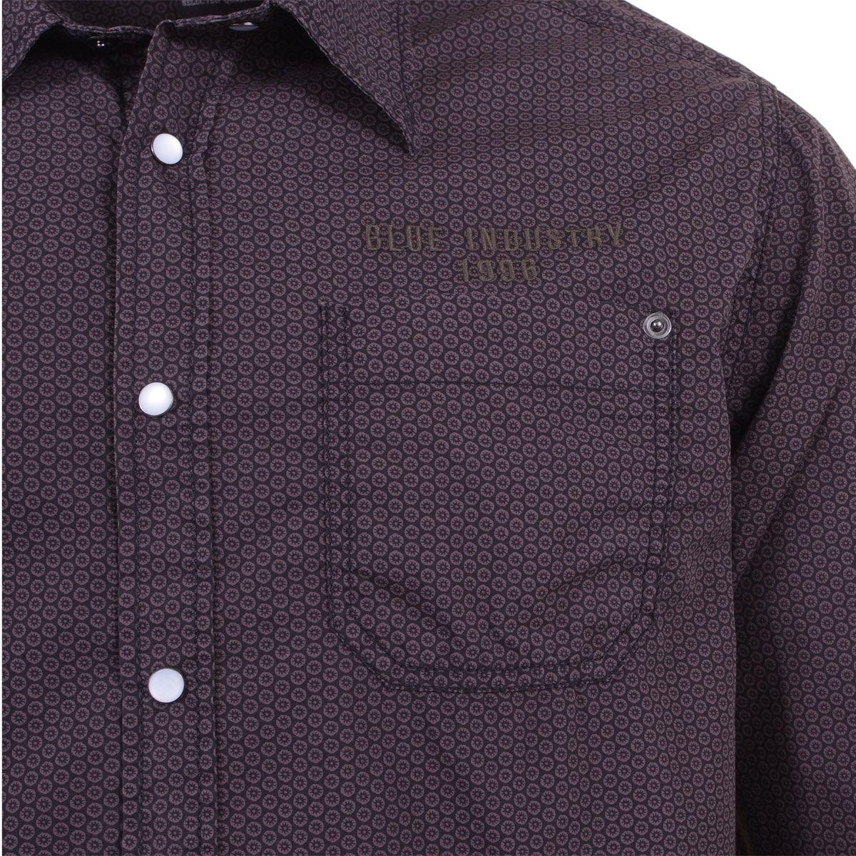 chemise marron pour homme grand du m au 2xl size factory kitaro. Black Bedroom Furniture Sets. Home Design Ideas