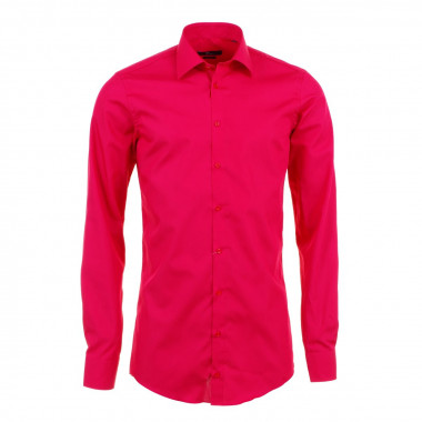 Chemise rouge : manches extra-longues 72cm