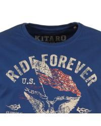 T-shirt bleu pour Homme Grand: du M au 2XL