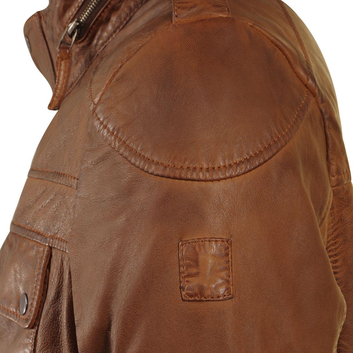blouson en cuir marron pour homme grand du m au 3xl. Black Bedroom Furniture Sets. Home Design Ideas