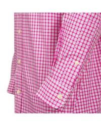 Chemise à carreaux fuschia: grande taille du 2XL au 6XL