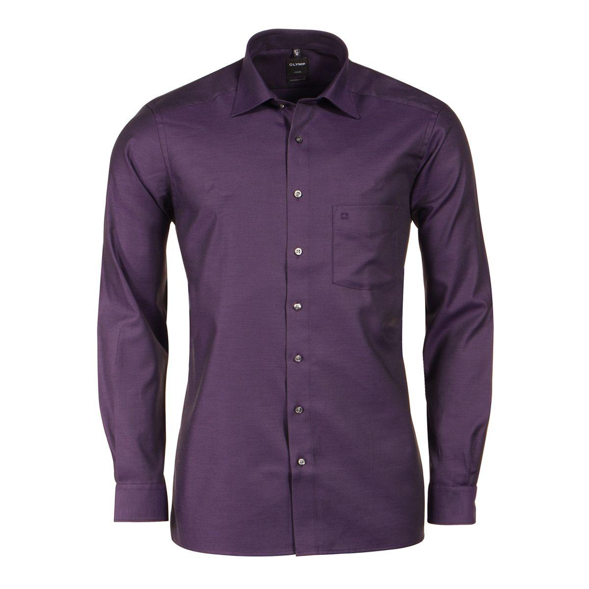 chemise violette fantaisie noire semi cintr e manches. Black Bedroom Furniture Sets. Home Design Ideas