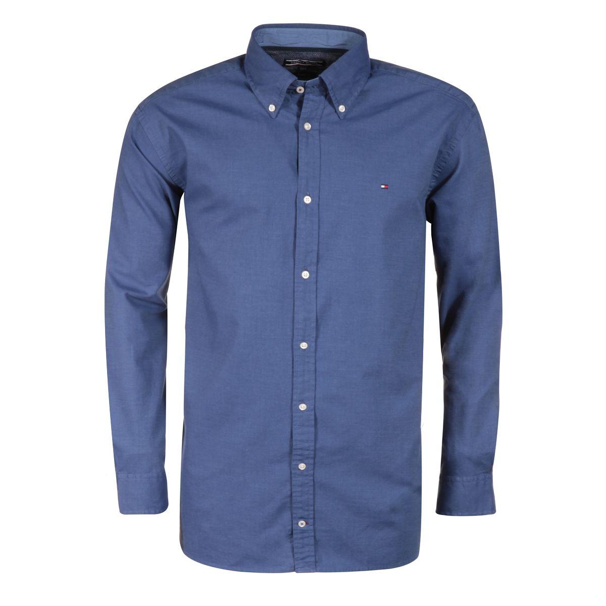 chemise bleue grande taille du 2xl au 5xl size factory tommy hilfiger. Black Bedroom Furniture Sets. Home Design Ideas