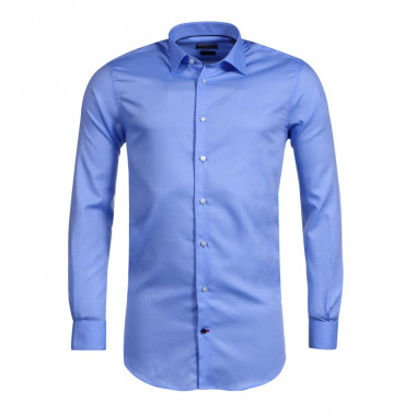 Chemise Oxford bleue: manches extra-longues 69cm