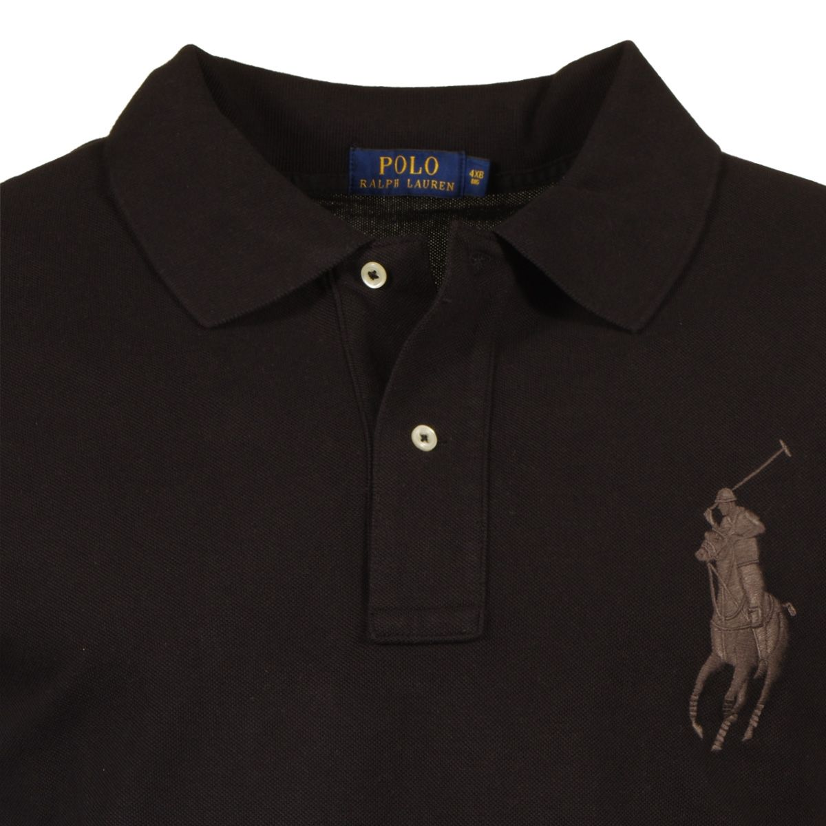 Polo noir grande taille du 2xl au 6xl for 6xl ralph lauren polo shirts