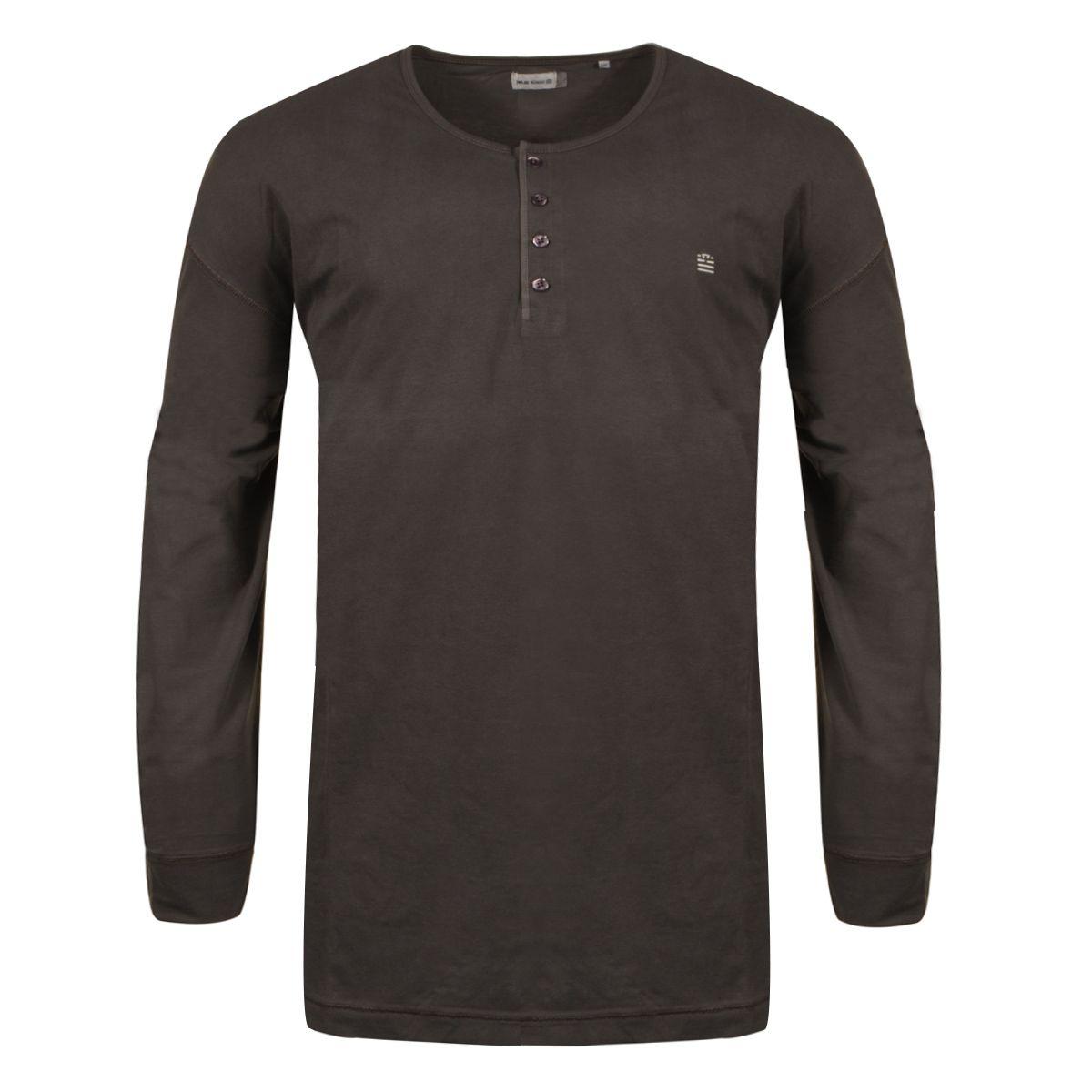 tee shirt manches longues col tunisien noir grande taille du 3xl au 6xl size factory serge. Black Bedroom Furniture Sets. Home Design Ideas