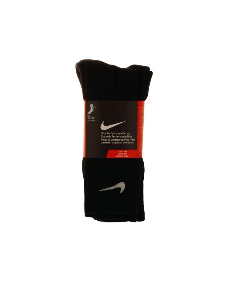 Lot de 3 paires de chaussettes Nike noires : grande taille du 42 au 46