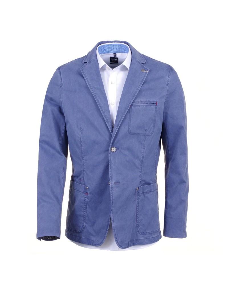 Veste bleu-moyen micro-cotelé pour Homme Grand: jusqu'au 60FR