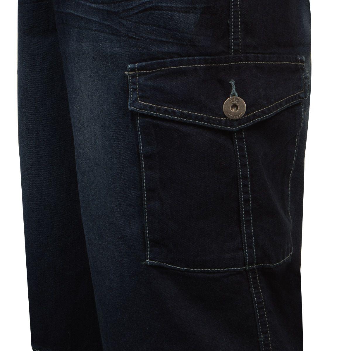 bermuda cargo en jean pour homme grand du l au 2xl size. Black Bedroom Furniture Sets. Home Design Ideas