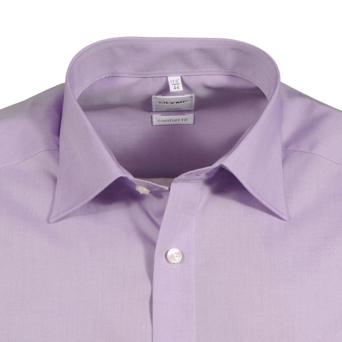 chemise homme grande taille violet sans repassage 45 au 50 olymp olymp. Black Bedroom Furniture Sets. Home Design Ideas