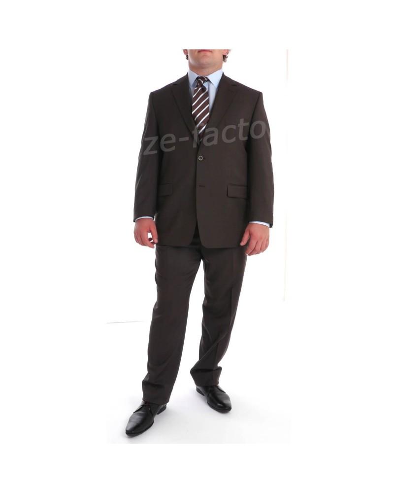 Pantalon de costume Excellence Chocolat