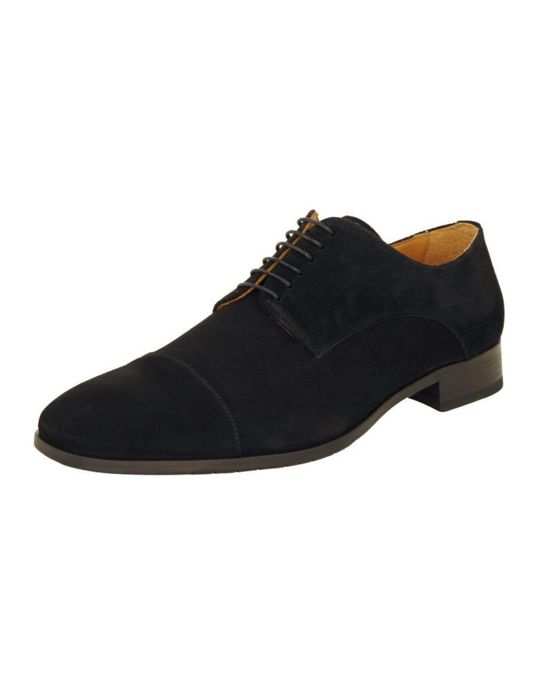 Chaussures en daim noires : grande taille jusqu'au 49