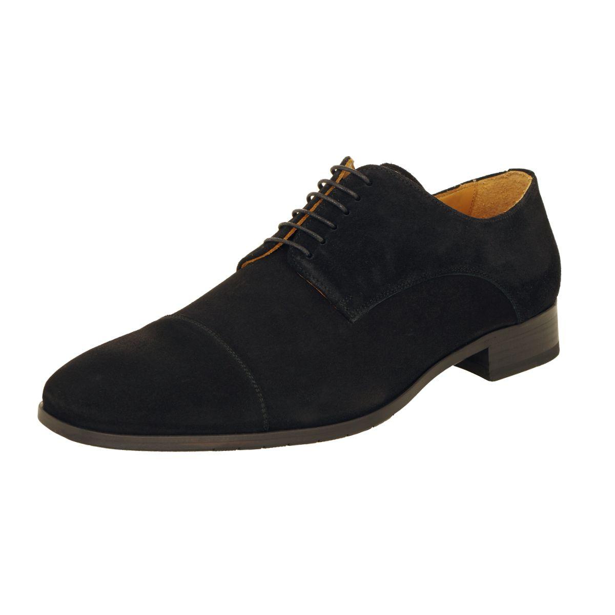 chaussures en daim noires grande taille jusqu 39 au 49 size factory paul edwards. Black Bedroom Furniture Sets. Home Design Ideas