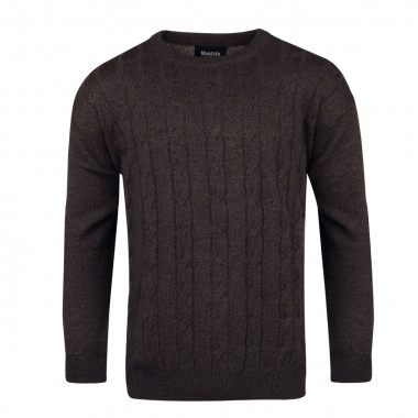 Pull col rond anthracite: grande taille du 2XL au 6XL