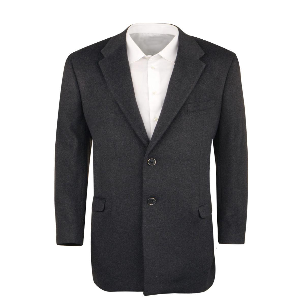 Manteau Maneven grande taille drap de laine anthracite