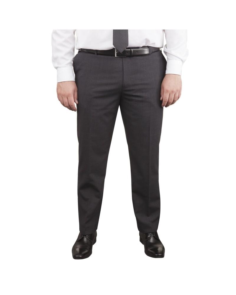 Pantalon de costume Classic gris foncé pour homme fort du 52 au 74
