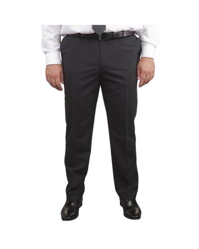 Pantalon de costume Classic noir pour homme fort du 50 au 78