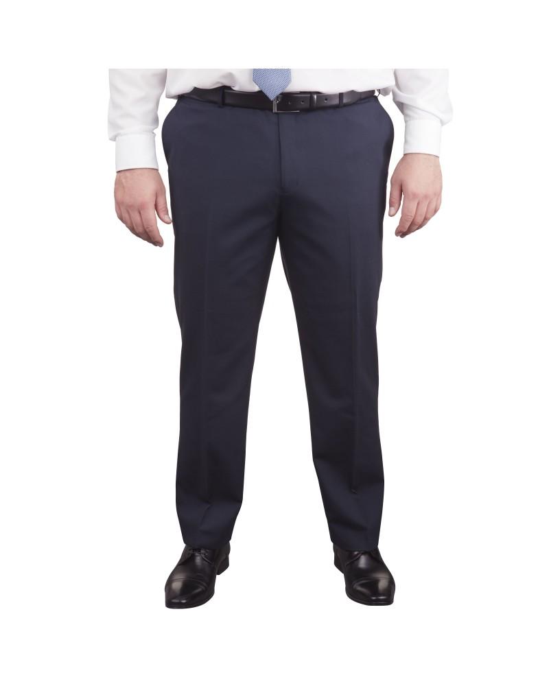 Pantalon de costume Classic bleu marine pour homme fort du 50 au 68