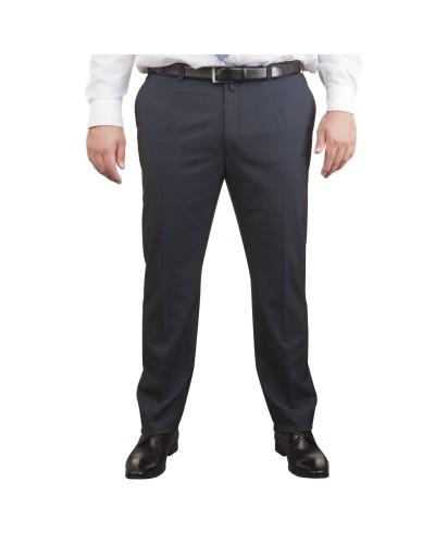 Pantalon de costume bleu marine: grande taille du 54 au 70