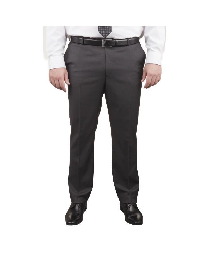 Pantalon de costume Marzotto anthracite : grande taille du 54 au 66