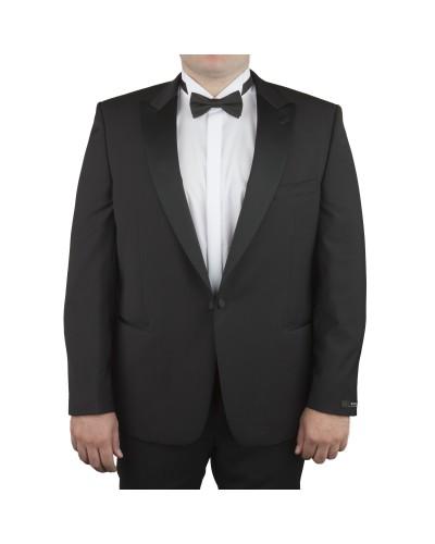 Veste de smoking noir avec satin : pour Homme Grand