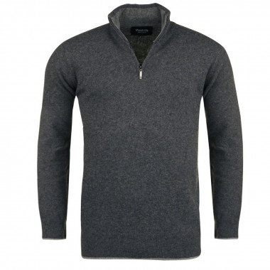 Pull camionneur anthracite pour Homme Grand : manches extra-longues