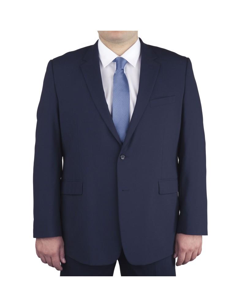 Veste de costume Classic bleu marine uni pour homme fort du 60 au 78 - Skopes
