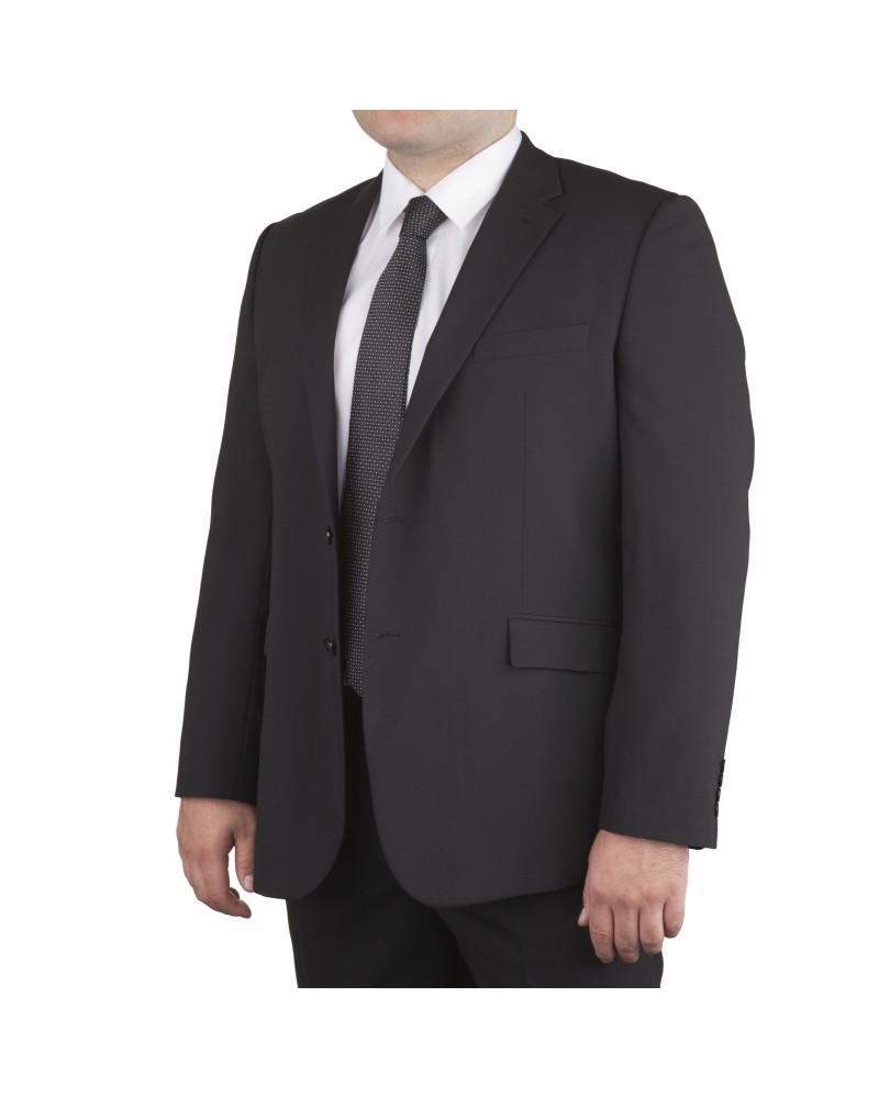 Veste de costume Classic Noir pour homme fort du 60 au 78 - Skopes