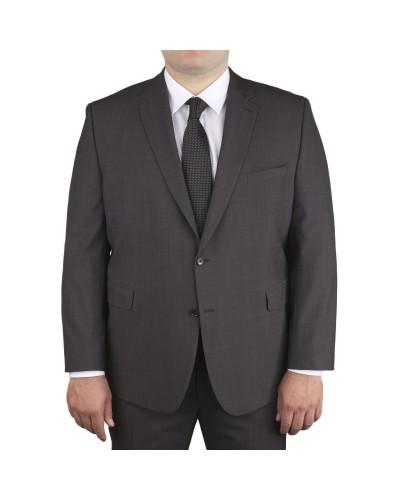 Veste de costume anthracite: grande taille du 60 au 84 - Bruno Saint Hilaire