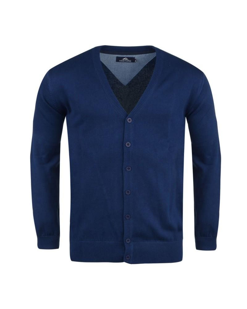Cardigan bleu roi pour Homme Grand : du M au 2XL