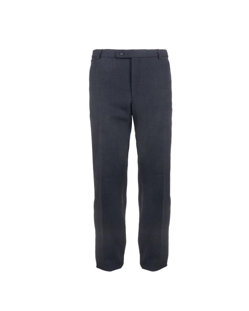 EN DOUBLE - Pantalon de ville anthracite pour Homme Grand : grande longueur de jambe 40US