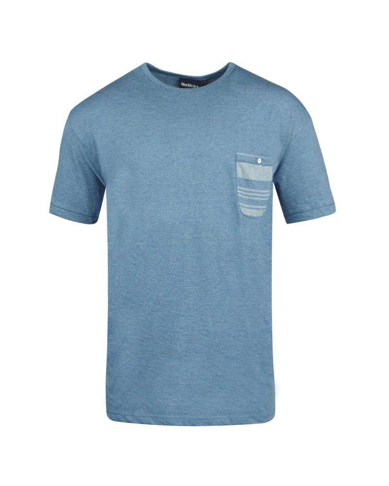 T-shirt bleu indigo: grande taille du 2XL au 8XL